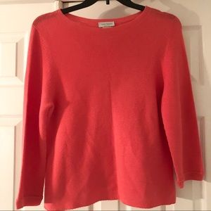 Gran Sasso Cotton Coral Knit Long Sleeve Sweater